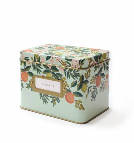 citrus recipe box